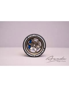 AZ6111-BR-BU - Azada 6 Spoke Steering Wheel - Bronze w/Blue Caliper