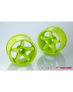 OD2775 - Overdose X Valino GV330 26mm +7mm Offset - Lime Yellow
