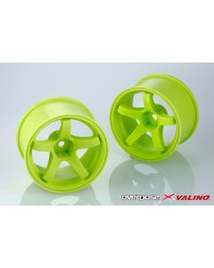 OD2776 - Overdose X Valino GV330 30mm +9mm Offset - Lime Yellow