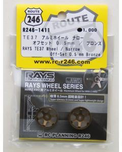 Route 246 Mini-Z Rays TE37 Wheel Narrow Offset 0.5mm - Bronze