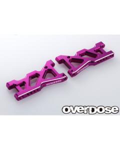 Overdose Aluminium Rear Suspension Arms for Drift Package - Purple