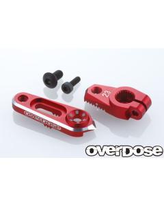 OD2803 - Overdose JT Aluminium Direct Servo Horn - 23T/Red (Sanwa/KO)