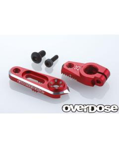 OD2806 - Overdose JT Aluminium Direct Servo Horn - 25T/Red (Futaba)