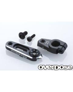 OD2807 - Overdose JT Aluminium Direct Servo Horn - 25T/Black (Futaba)