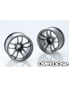 OD2834 - Overdose WORK EMOTION CR Kiwami 26mm +7 Offset - Matte Black Metal Chrome