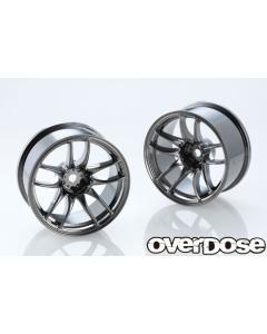 OD2835 - Overdose WORK EMOTION CR Kiwami 26mm +7 Offset - Black Metal Chrome