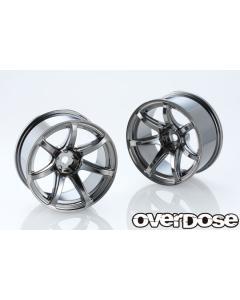 OD2839 - Overdose WORK EMOTION T7R 26mm +7 Offset - Black Metal Chrome