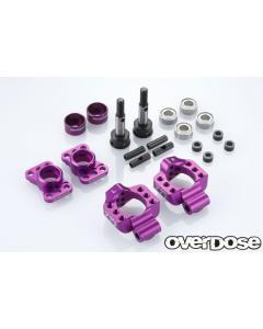 OD2277b - Overdose Adjustable Aluminium Rear Upright For OD/YD-2 - Purple