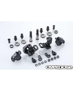 OD2439 - Overdose Adjustable Aluminium Knuckle Set Type-2 -Black