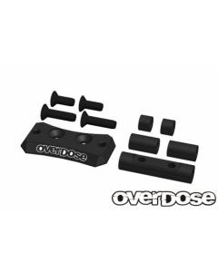OD2443 - Overdose Aluminium Cooling Fan Mount For Vacula II/GALM - Black
