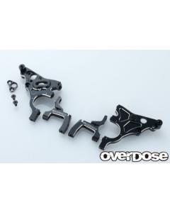 Overdose Multi Purpose Aluminium Rear Bulkhead For GALM - Black