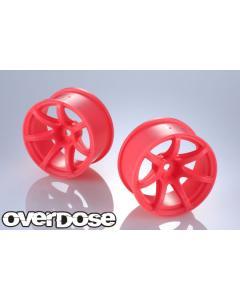 OD2723 - Overdose Work Emotion T7R R-Spec Wheels 7mm - Neon Pink