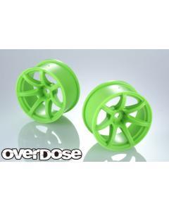 Overdose Work Emotion T7R R-Spec Wheels 7mm - Neon Green