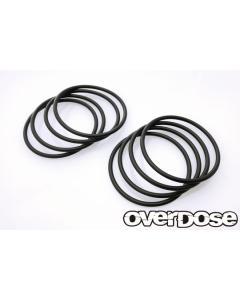 OD2796 - Overdose Tyre O-Rings 8pcs - Black