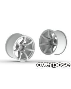 OD2678b - Overdose R-SPEC Work Emotion T7R +7 Offset - White