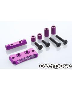 OD2441b - Overdose Aluminium Cooling Fan Mount For Vacula II/GALM - Purple