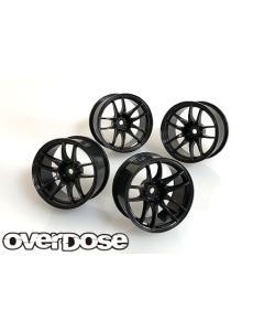 Overdose Work Emotion CR Kiwami R-Spec Wheels 5/7mm - Black